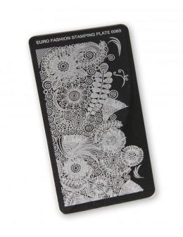 Euro Fashion Nail Art Stamping Plate - 013S