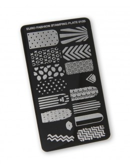 Euro Fashion Nail Art Stamping Plate - 010S