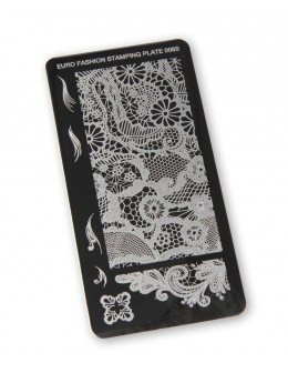 Euro Fashion Nail Art Stamping Plate - 006S