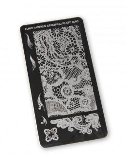 Euro Fashion Nail Art Stamping Plate - 006S