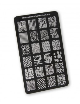 Euro Fashion Nail Art Stamping Plate - 001B