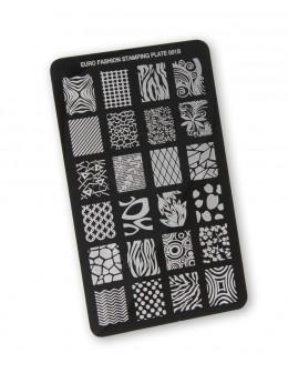 Euro Fashion Nail Art Stamping Plate - 001B