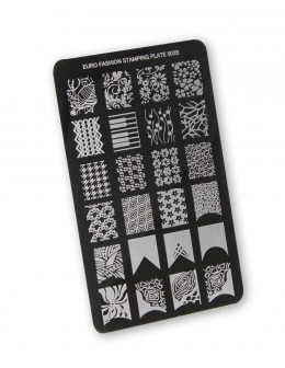 Euro Fashion Nail Art Stamping Plate - 002B