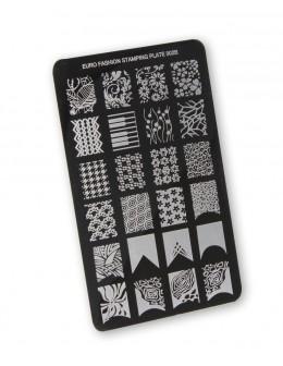 Euro Fashion Nail Art Stamping Plate - 002B