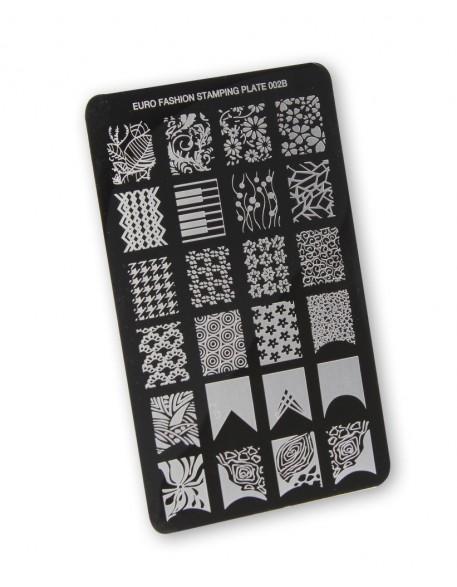 Płytka do stempli Euro Fashion Nail Art Stamping Plate - 002B