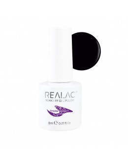 REALAC Sharm Effect Soak Off Gel Polish 8ml - Black