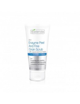 Bielenda 2 w 1 Enzymatyczny peeling drobnoziarnisty do twarzy z papainą i bromelainą 150g