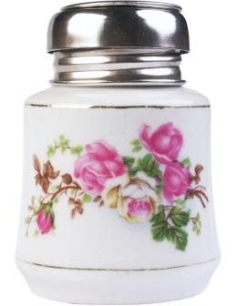 EF Porcelain Liquid Pump with flower 4oz.