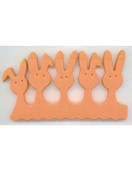 Separatory króliczki (para) - pomarańczowe