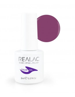 REALAC Soak Off Gel Polish 8ml - 107 - Grapetini