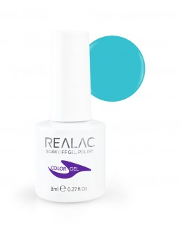REALAC Soak Off Gel Polish 8ml - 110 - Blue Lagoon