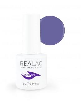 Żellakier Realac Soak Off Gel Polish 8ml - 138 - Pillow Purple