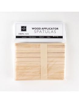 Depi Care Wood Applicator Spatulas - Medium