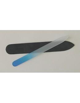 Pilnik szklany dwustronny kolorowy - niebieski