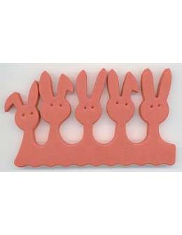 Separatory króliczki (para) - czerwone