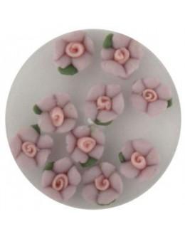 Kwiatki akrylowe 3D 10szt - jasno fioletowe