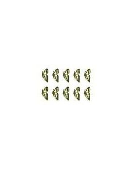 Ozdoby metalowe złote 10szt - Motyl nr 1