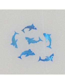 Ozdoby z muszelek 20szt. wzór nr 02 - niebieskie opalizujące