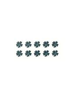 Ozdoby metalowe srebrne 10szt - Kwiat