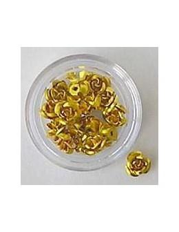Kwiatki metalowe różyczki 20szt. - złote