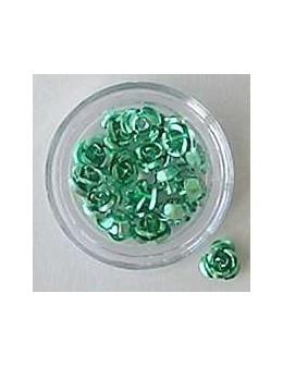 Kwiatki metalowe różyczki 20szt. - jasno zielone