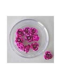 Kwiatki metalowe różyczki 20szt. - jasno różowe