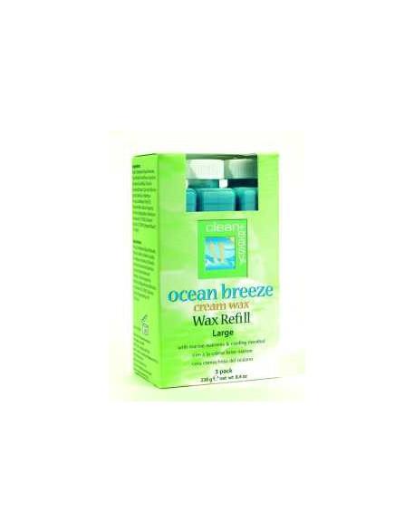 Wosk do depilacji Ocean Breeze CleanEasy Cream Wax 3szt. - duże uzupełnienie