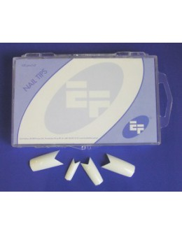 Tipsy białe ozdobne EF 100szt. - 'szewron'