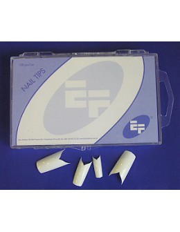 Tipsy białe ozdobne EF 100szt. - 'ozdobne V'