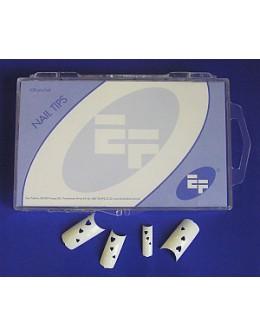 Tipsy białe ozdobne EF 100szt. - serduszka