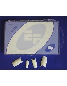 Tipsy białe ozdobne EF 100szt. - zyg-zag