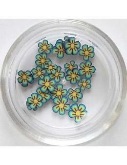 Ozdoby gumowe (FIMO) 25szt - kwiatki nr 17