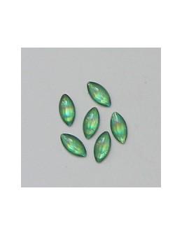 Ozdoby szklane 3D łódki 20szt - jasno zielone