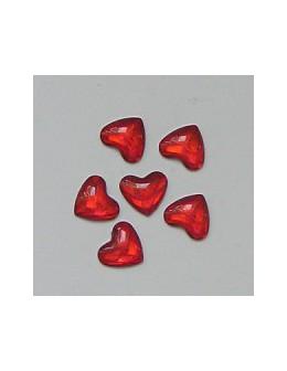 Ozdoby szklane 3D serca 20szt - czerwone