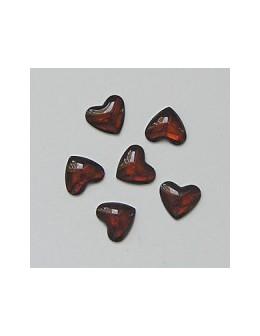 Ozdoby szklane 3D serca 20szt - brązowe