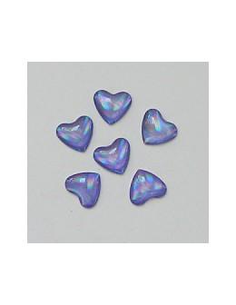 Ozdoby szklane 3D serca 20szt - fioletowe