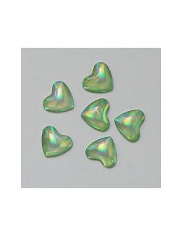 Ozdoby szklane 3D serca 20szt - jasno zielone