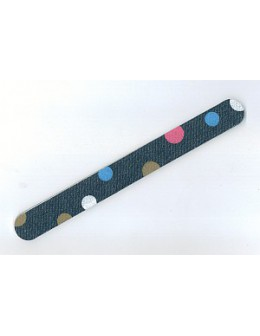 Pilnik Blue Cross Fantasy Nail File Blue Jeans Baby - Polka Dots