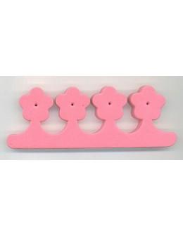 Separatory kwiatki (para) - różowe