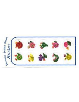 Kwiatki suszone nr 3 - naklejki 3D