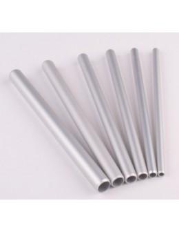Rurki EF Artificial Nail Tool 6szt. - srebrne