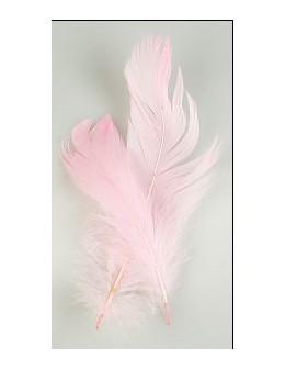 Pióro barwione 2szt - jasno różowe