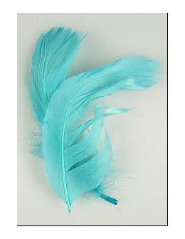 Pióro barwione 2szt - niebieskie