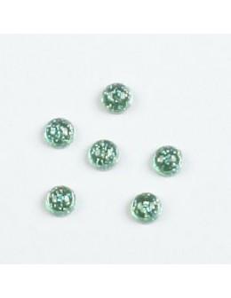 Cyrkonie perły z brokatem (2.8mm) 50 szt. - zielone
