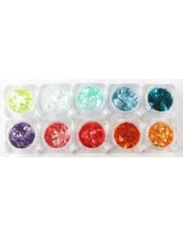 Zestaw ozdób Christrio Glitter Pack - Pearl