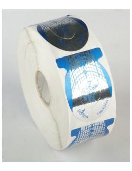 Formy do akrylu EzFlow Perfect C Curve Forms - kwadratowe 500szt.