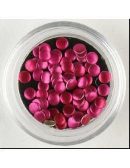 Metalowe cekiny - różowe - 70szt