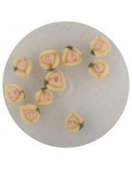 Kwiatki akrylowe 3D 10szt - pomarańczowe (małe)