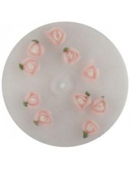 Kwiatki akrylowe 3D 10szt - różowe (małe)