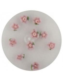 Kwiatki akrylowe 3D 10szt - jasno fioletowe (małe)